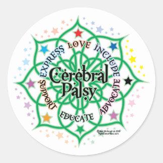 Cerebral Palsy Lotus Round Sticker