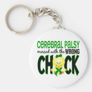 Cerebral Palsy Messed With The Wrong Chick Keychain