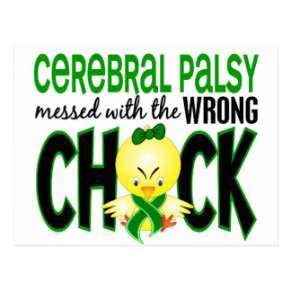 Cerebral Palsy Messed With The Wrong Chick Postcard
