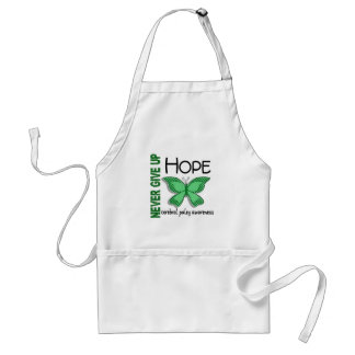 Cerebral Palsy Never Give Up Hope Butterfly 4.1 Adult Apron