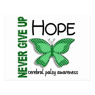 Cerebral Palsy Never Give Up Hope Butterfly 4.1 Postcard