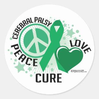 Cerebral Palsy PLC Classic Round Sticker