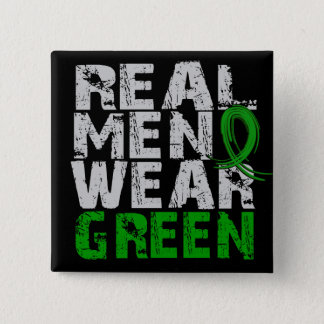 Cerebral Palsy Real Men Wear Green Pinback Button