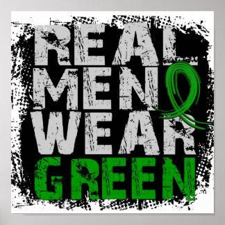 Cerebral Palsy Real Men Wear Green Poster