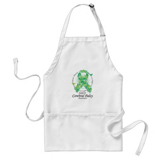 Cerebral Palsy Ribbon of Butterflies Aprons