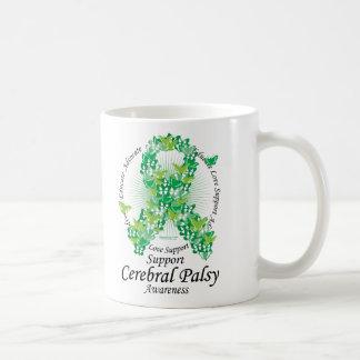 Cerebral Palsy Ribbon of Butterflies Coffee Mug