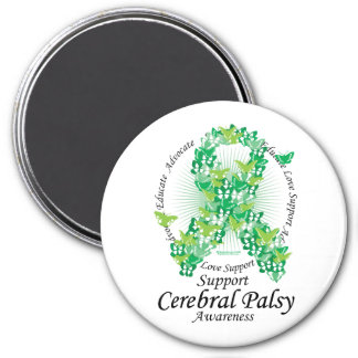 Cerebral Palsy Ribbon of Butterflies Magnet