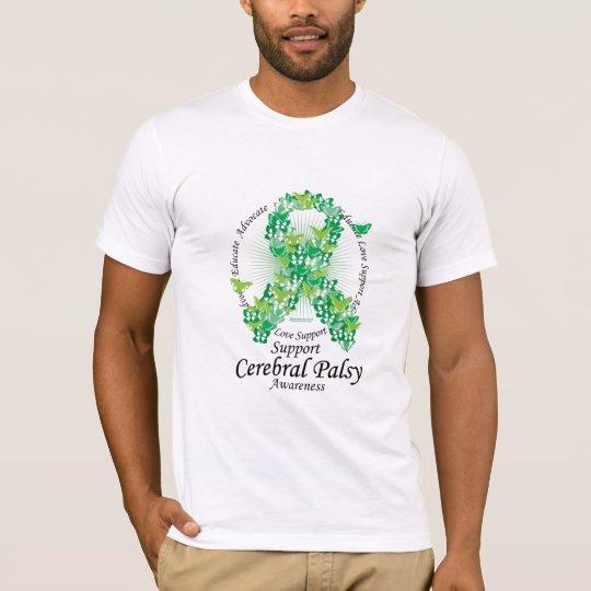 Cerebral Palsy Ribbon of Butterflies T-Shirt