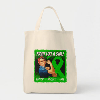 Cerebral Palsy Rosie Riveter - Fight Like a Girl Grocery Tote Bag