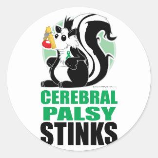 Cerebral Palsy Stinks Classic Round Sticker
