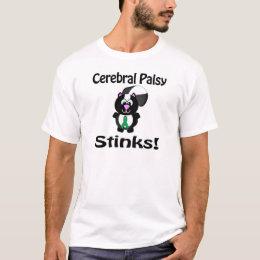 Cerebral Palsy Stinks Skunk Awareness Design T-Shirt