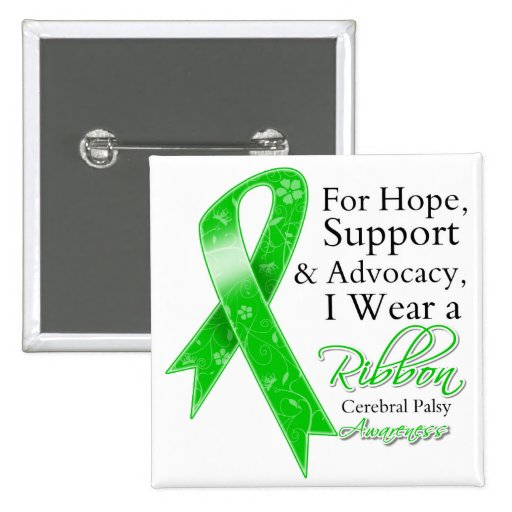 Cerebral Palsy Support Hope Awareness Pin
