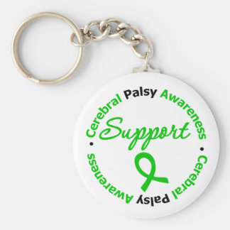 Cerebral Palsy Support Ribbon Keychain