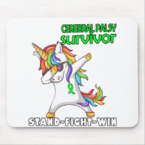CEREBRAL PALSY Survivor Stand-Fight-Win Mouse Pad