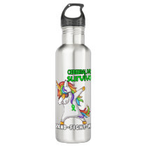 CEREBRAL PALSY Survivor Stand-Fight-Win Stainless Steel Water Bottle