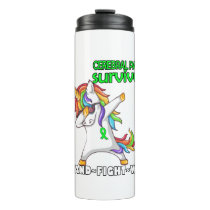 CEREBRAL PALSY Survivor Stand-Fight-Win Thermal Tumbler