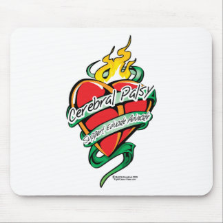 Cerebral Palsy Tattoo Heart Mouse Pad