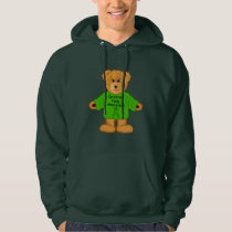 Cerebral Palsy Teddy with Awareness Ribbon Hoodie
