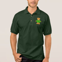 Cerebral Palsy Teddy with Awareness Ribbon Polo Shirt