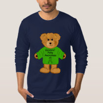 Cerebral Palsy Teddy with Awareness Ribbon T-Shirt