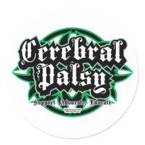 Cerebral Palsy Tribal Classic Round Sticker