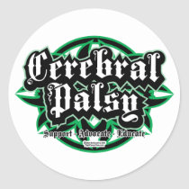 Cerebral Palsy Tribal Classic Round Sticker