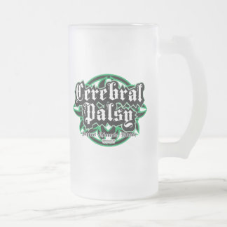 Cerebral Palsy Tribal Frosted Glass Beer Mug