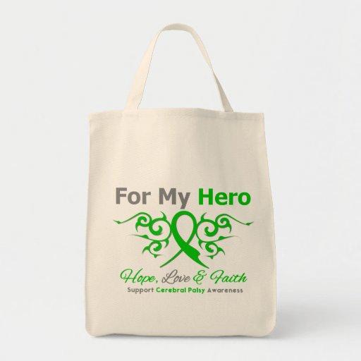 Cerebral Palsy Tribal Ribbon Hero Bags