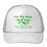 Cerebral Palsy Tribal Ribbon Hero Trucker Hats