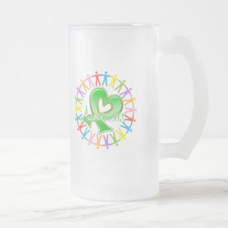 Cerebral Palsy Unite in Awareness 16 Oz Frosted Glass Beer Mug