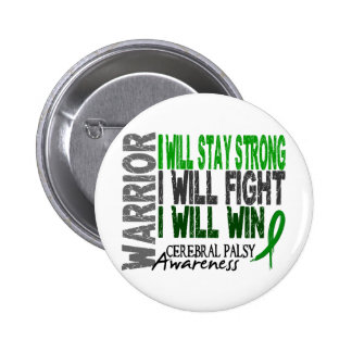 Cerebral Palsy Warrior Pinback Buttons