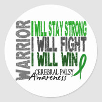 Cerebral Palsy Warrior Classic Round Sticker