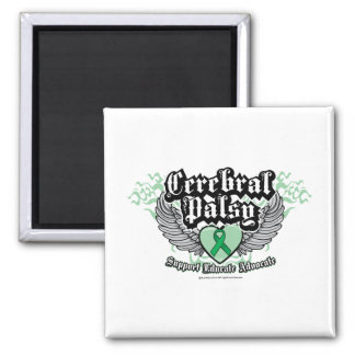 Cerebral Palsy Wings 2 Inch Square Magnet