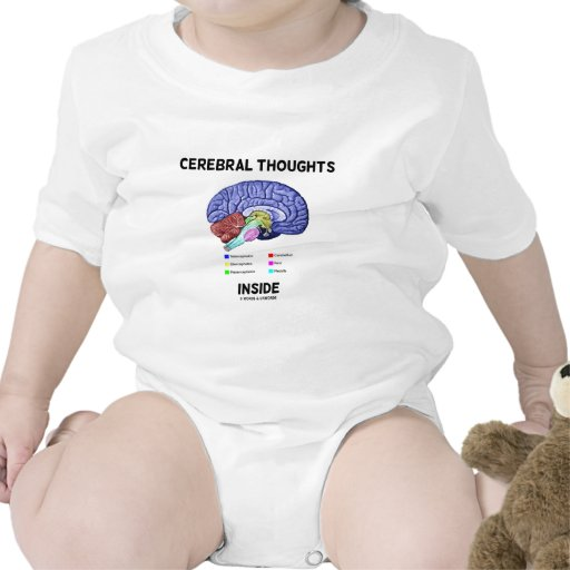 Cerebral Thoughts Inside (Brain Humor) T Shirts