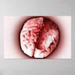 Cerebro 2 de la placa de circuito póster