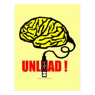 Cerebro a descargar postal
