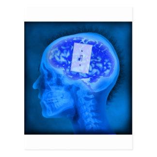 cerebro apagado tarjetas postales
