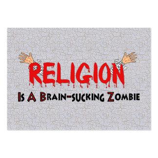 Cerebro-Chupar al zombi Tarjetas De Visita Grandes