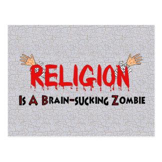 Cerebro-Chupar al zombi Tarjetas Postales