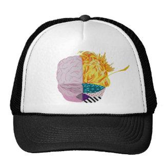 Cerebro colorido gorra
