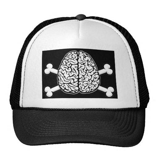 Cerebro con el gorra de la bandera pirata