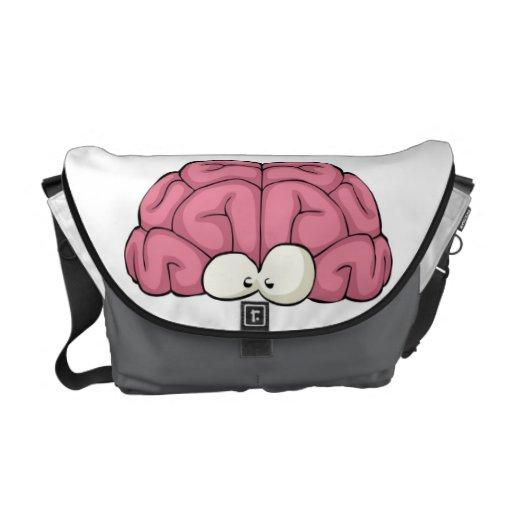 Cerebro con los ojos bolsa messenger