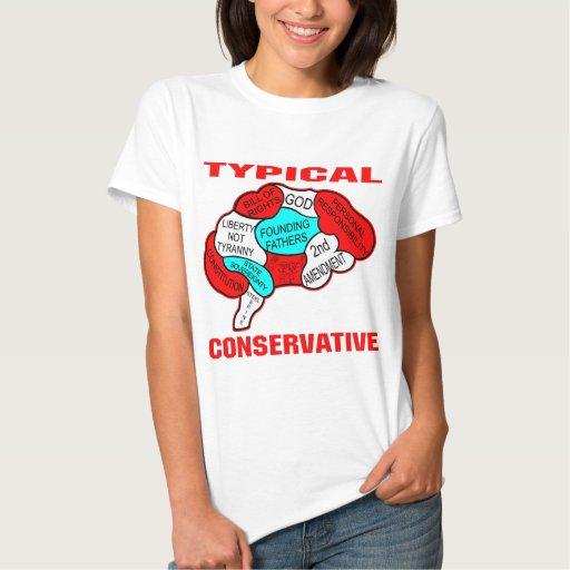 Cerebro conservador típico playeras