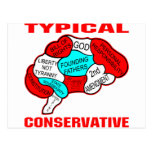Cerebro conservador típico tarjeta postal