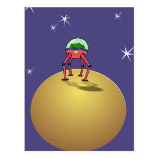 Cerebro de Alen en Spacesuit en el planeta Tarjetas Postales