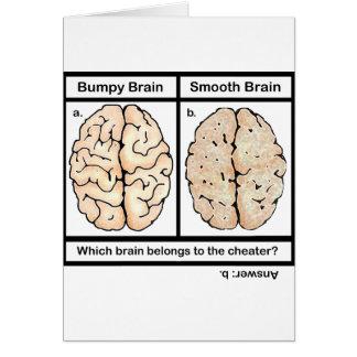 Cerebro de engaño tarjeta de felicitación
