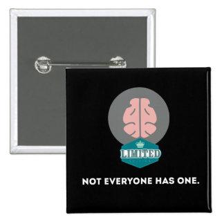 Cerebro de la edición limitada pin cuadrado