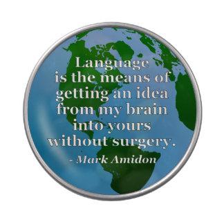 Cerebro de la idea de la lengua sin cita de la jarrones de caramelos