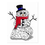 Cerebro de la nieve postales