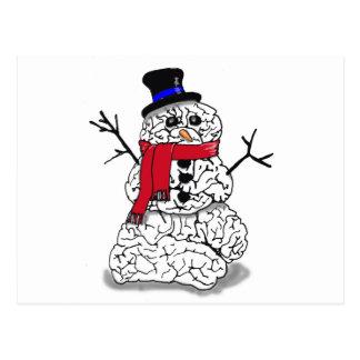 Cerebro de la nieve tarjetas postales